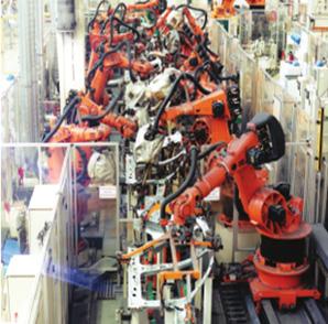 机器人点焊生产线