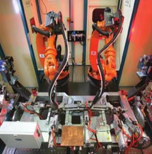 机器人焊接生产线